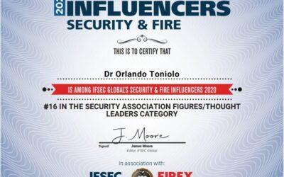 El Pte de CAPSI – Dr. Orlando Toniolo – entre los influencers globales en seguridad 2020